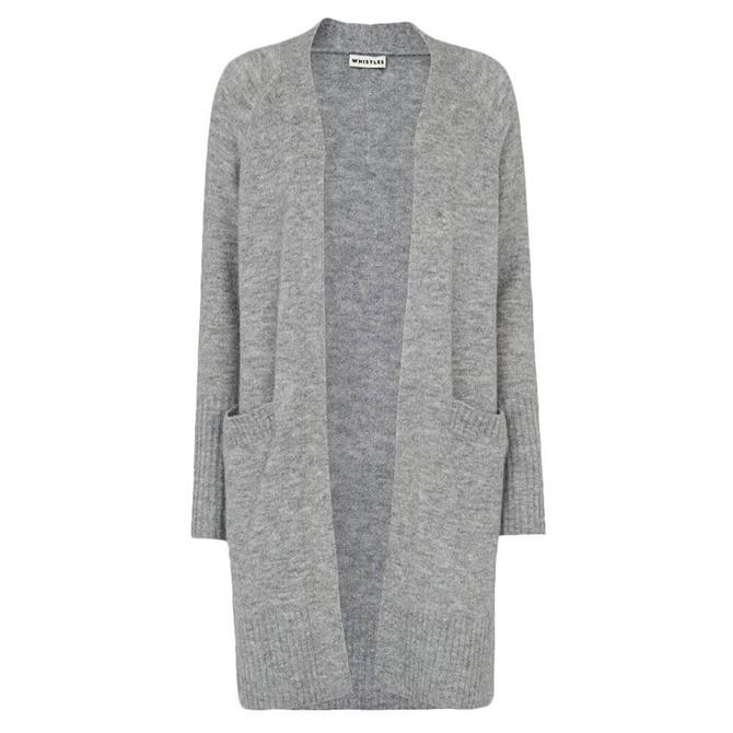 Whistles Lilly Long Line Wool Blend Cardigan