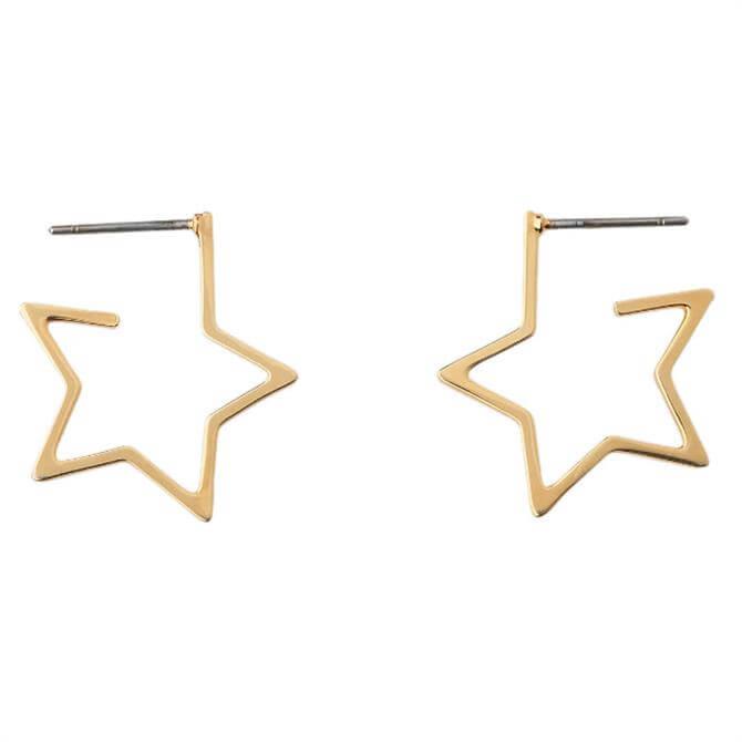Whistles Mini Star Outline Earrings