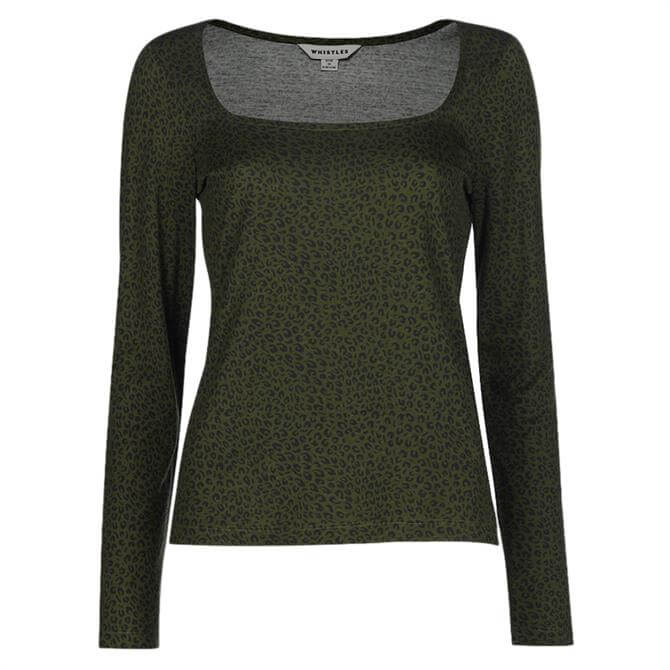 Whistles Mini Leopard Print Top