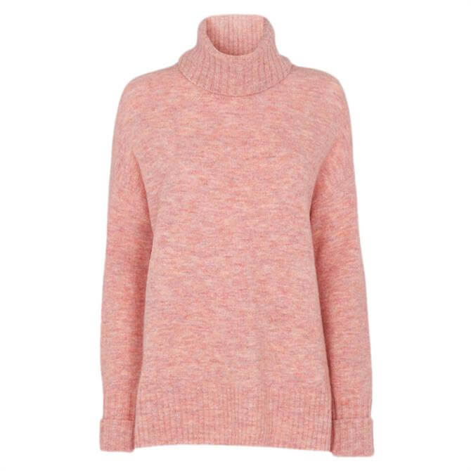 Whistles Oversized Wool Blend Roll Neck Jumper