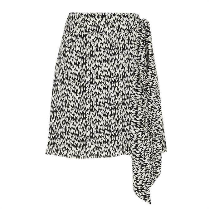 Whistles Petal Print Wrap Skirt