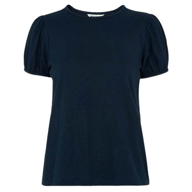 Whistles Navy Puff Sleeve T-Shirt