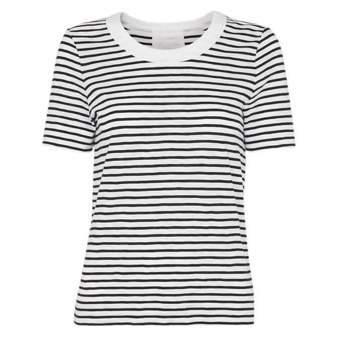 Whistles Rosa Double Trim Stripe T Shirt