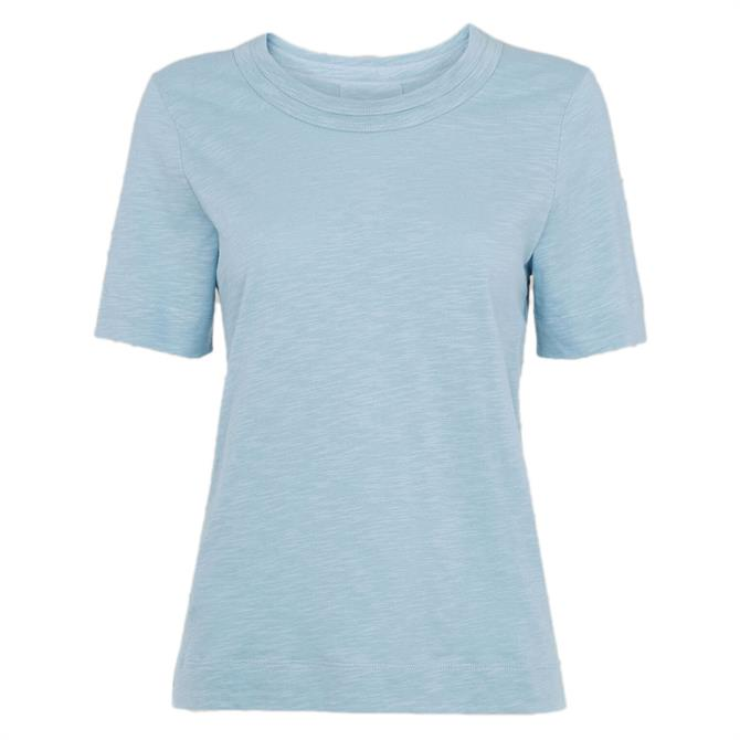 Whistles Rosa Double Trim Pale Blue T-Shirt