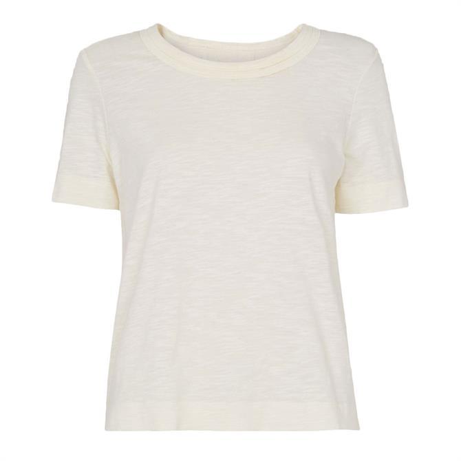 Whistles Cream Rosa Double Trim T-Shirt