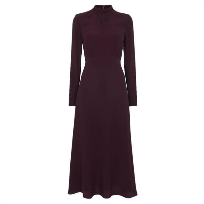 Whistles Ruby Mock Neck Midi Dress