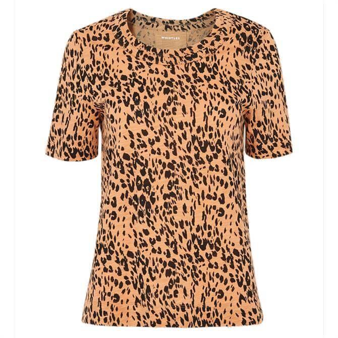 Whistles Safari Leopard Print Rosa T-Shirt
