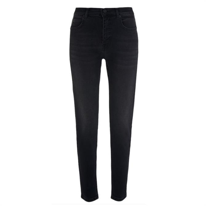 Whistles Sculpted Skinny Black Jeans