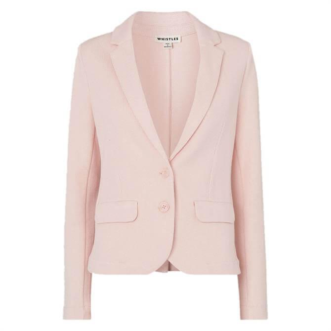 Whistles Pale Pink Slim Jersey Jacket
