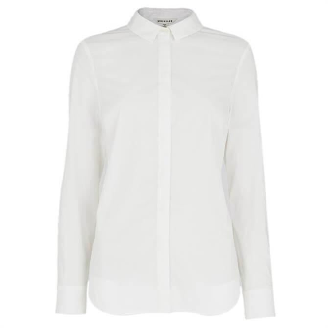 Whistles Slim Cotton Shirt