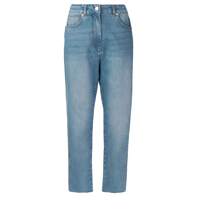 Whistles Slim Frayed Detail Jeans