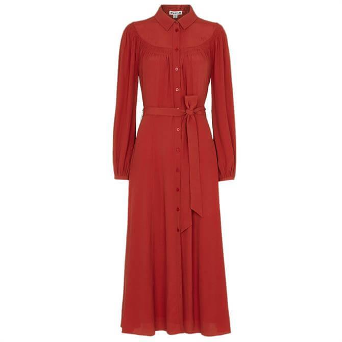 Whistles Smocked Yoke Shirt Dress