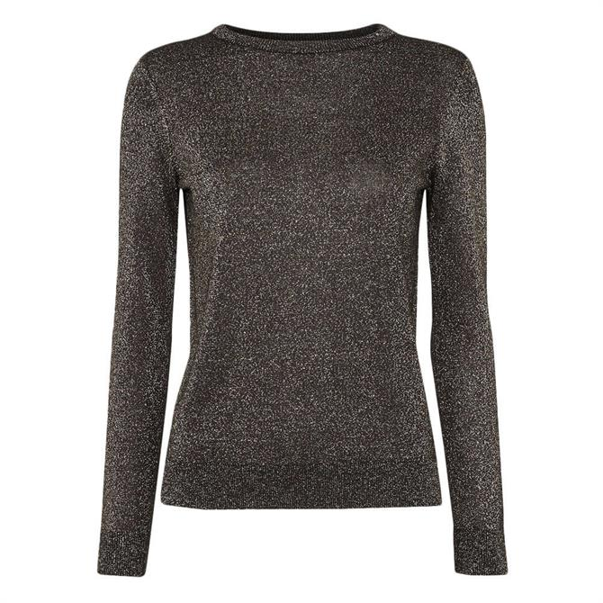 Whistles Silver Sparkle Crew Neck Jumper