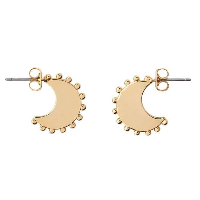Whistles Sphere Detail Crescent Earrings