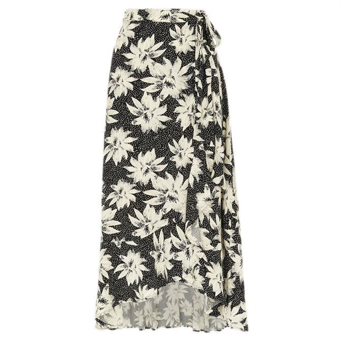 Whistles Starburst Floral Print Midi Skirt