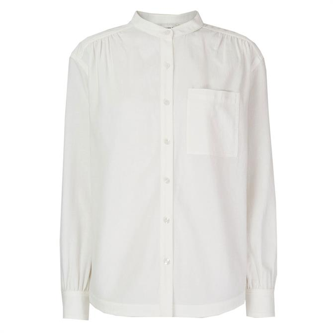 Whistles Textured Gather Detail Shirt