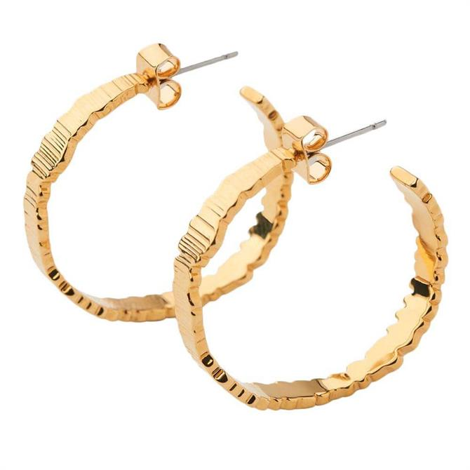 Whistles Textured Large Hoop Earrings