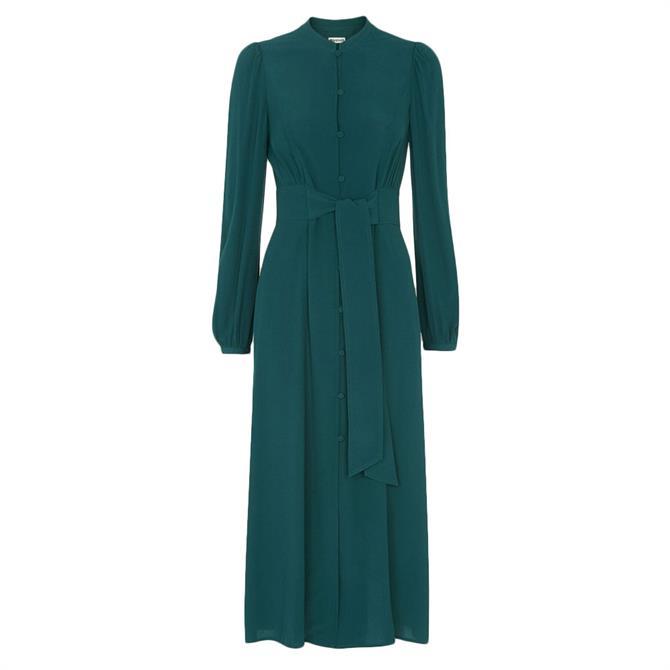 Whistles Tie Waist Midi Dress