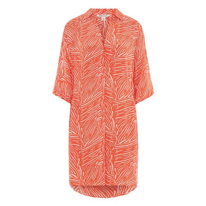 Whistles Tiger Palm Print Lola Dress