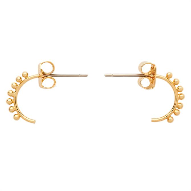 Whistles Tiny Studded Curve Earring