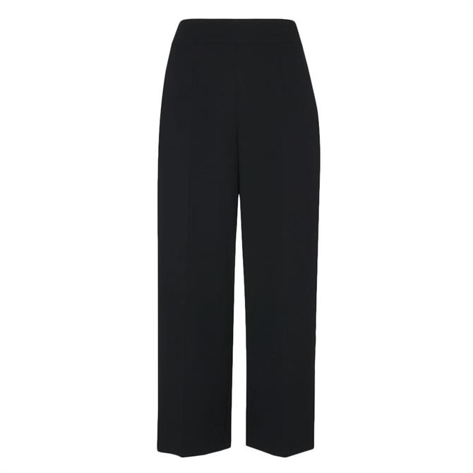 Whistles Black Wide Leg Crop Trouser