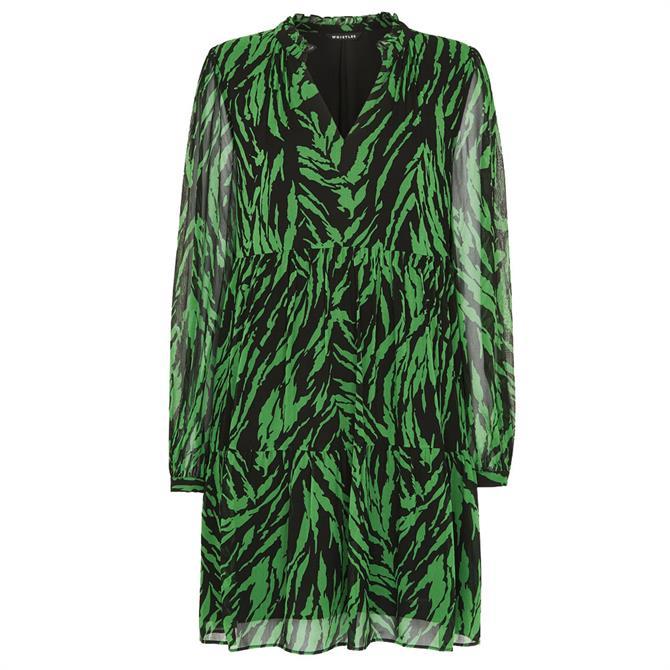 Whistles Zebra Stripe Trapeze Dress