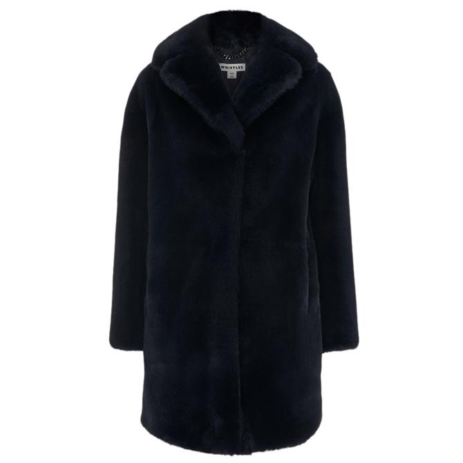 Whistles Frankie Faux Fur Coat