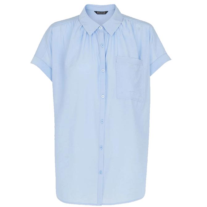 Whistles Blue Nicola Button Through Shirt
