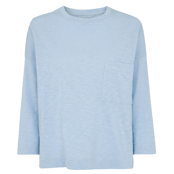 Whistles Pale Blue Sustainable Cotton Pocket Top