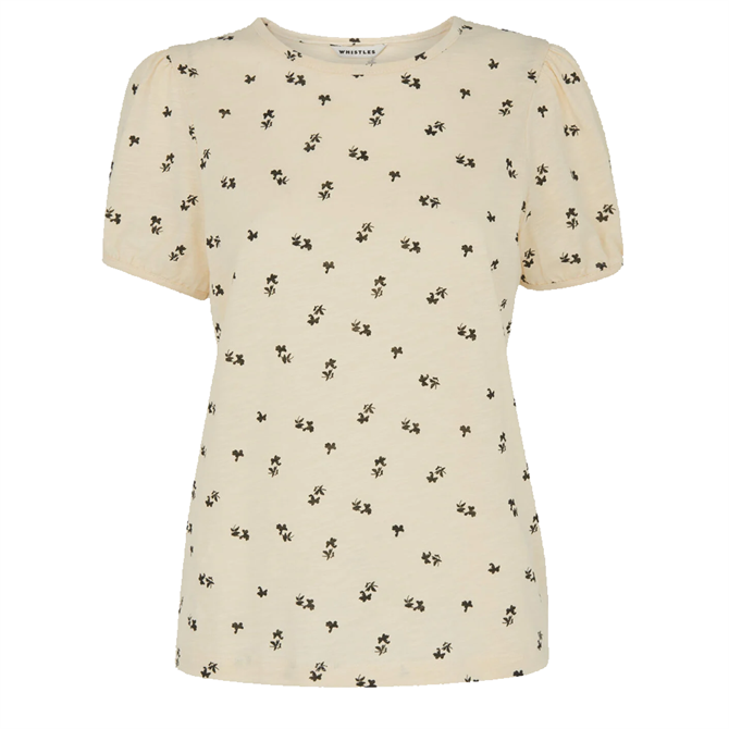 Whistles Puff Sleeve Forget Me Not T-Shirt