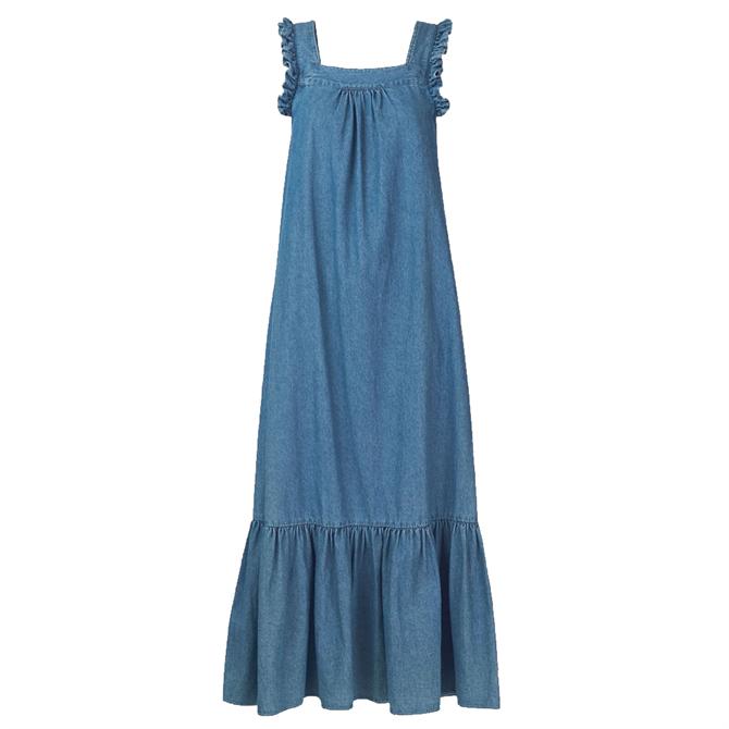 Whistles Chambray Trapeze Dress