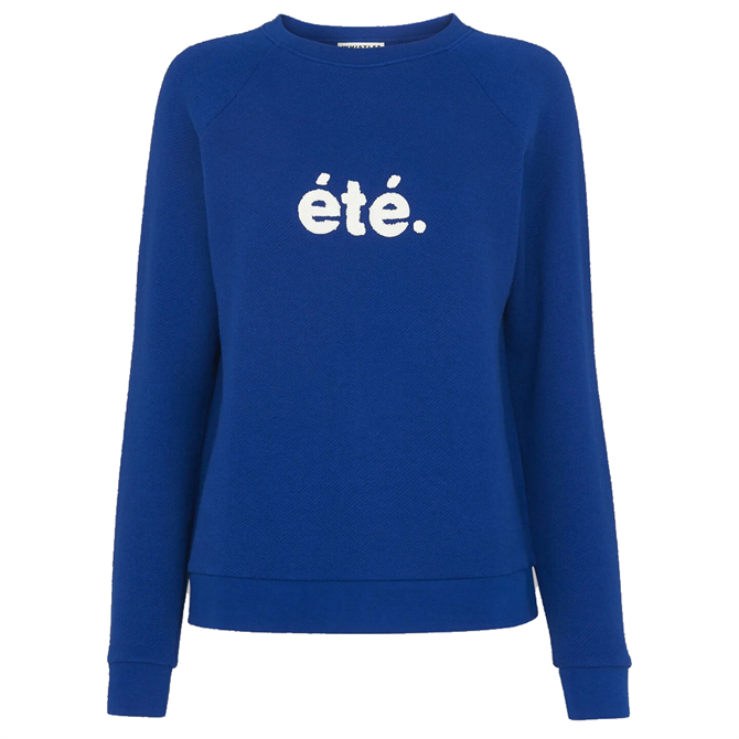 Whistles Sustainable Blue Ete Sweat