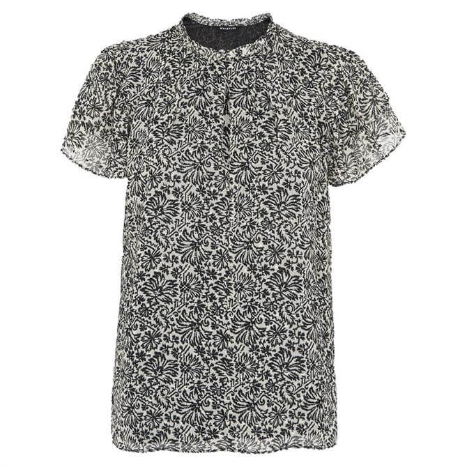 Whistles Indo Floral Print Top