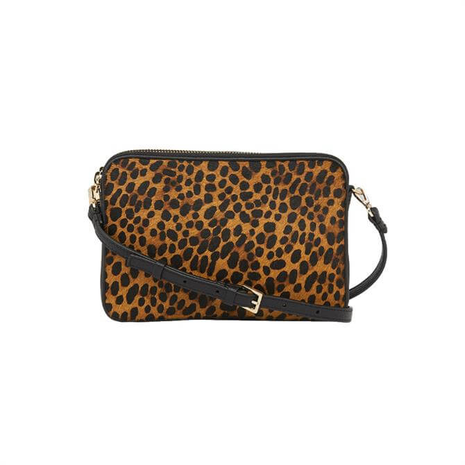 Whistles Cami Leopard Crossbody Bag