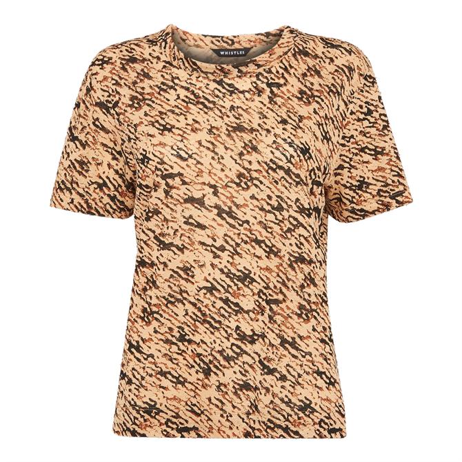 Whistles Bark Ultimate Linen T-Shirt