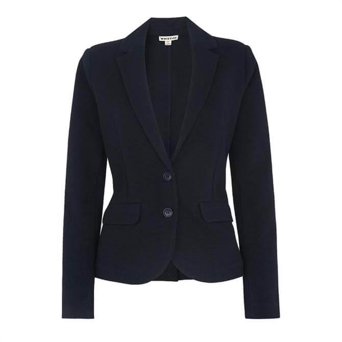 Whistles Slim Jersey Blazer Jacket