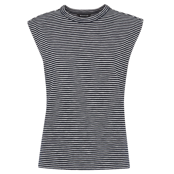 Whistles Sustainable Stripe Muscle Vest Top