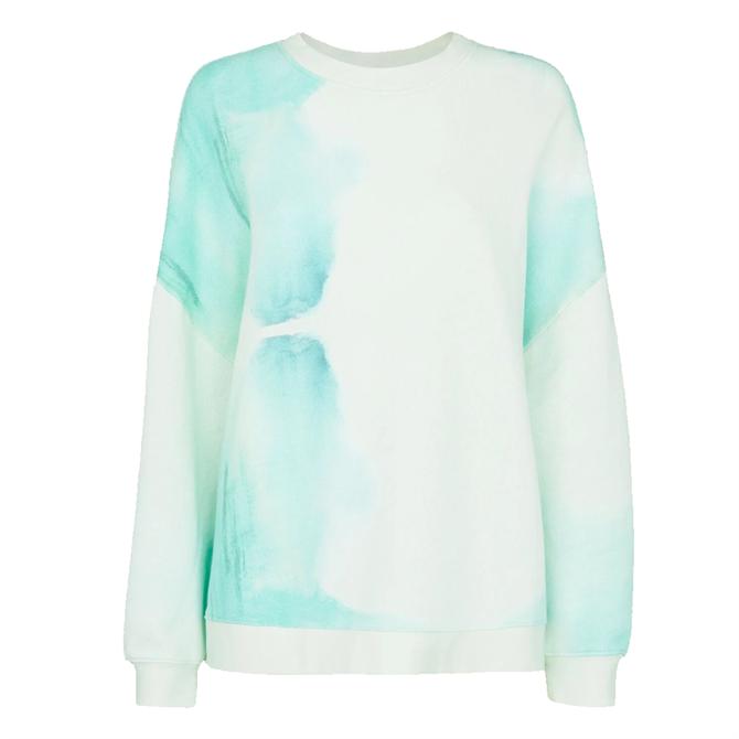 Whistles White Sustainable Tie Dye Cotton Sweatshirt