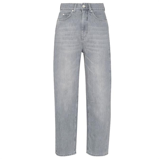 Whistles Authentic Barrel Leg Light Grey Jeans