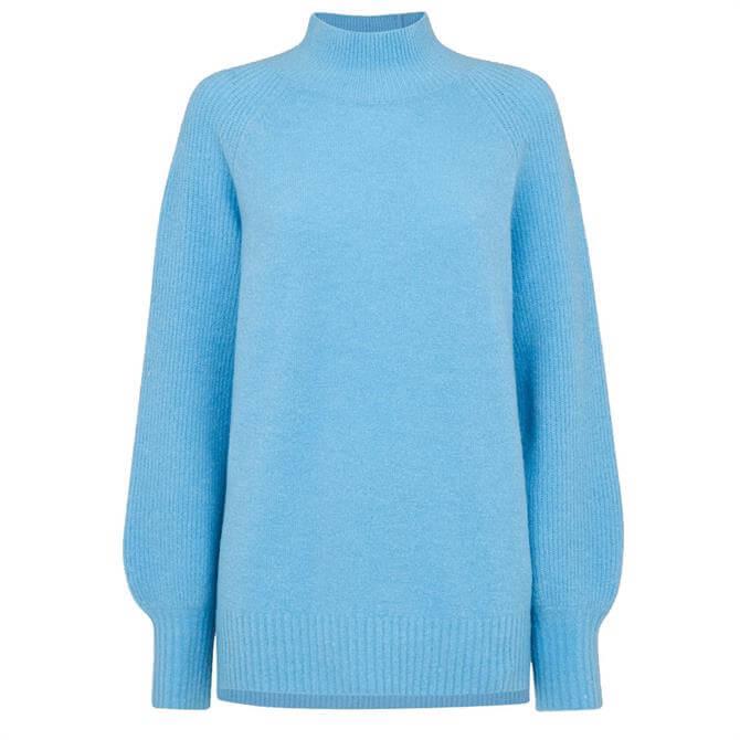 Whistles Full Sleeve Knitted Blue Jumper
