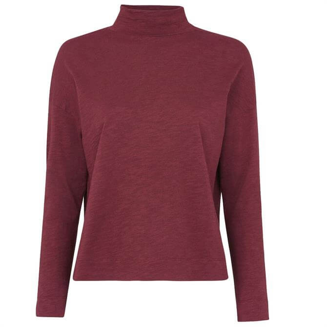 Whistles High Neck Relaxed Cotton Top
