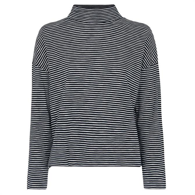 Whistles Stripe High Neck Relaxed Top