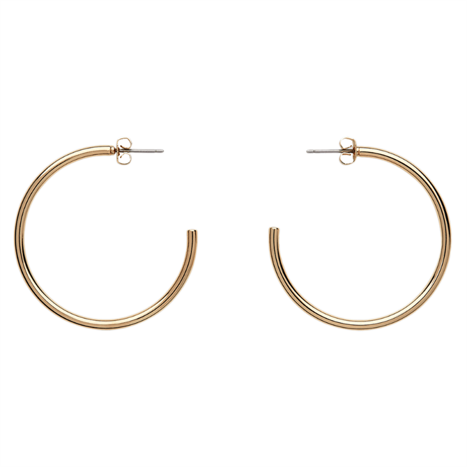 Whistles Large Gold Classic Hoop Earrings