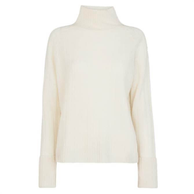 Whistles Rib Detail Funnel Neck Jumper