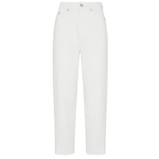 Whistles Authentic White Barrel Leg Jeans