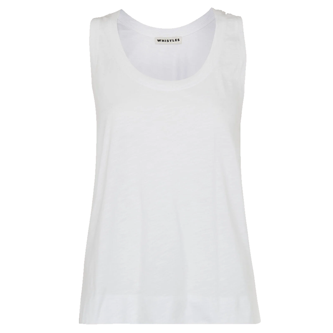 Whistles White Sustainable Easy Basic Vest Top