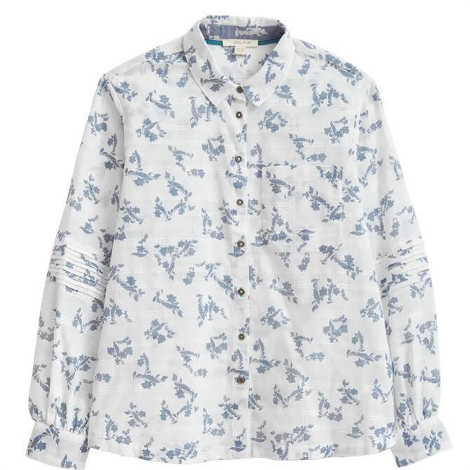 White Stuff Bright Skies Ivory Multi Organic Shirt