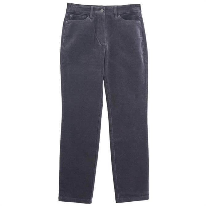 White Stuff Brooke Dark Grey Straight Cord Trousers