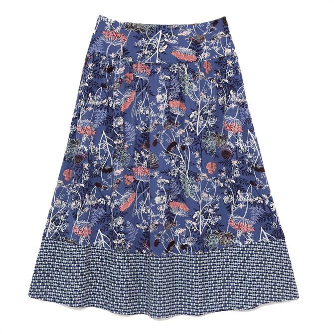 White Stuff Eta Printed Midi Skirt
