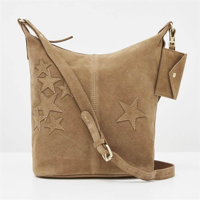 White Stuff Fern Light Tan Leather Crossbody Bag